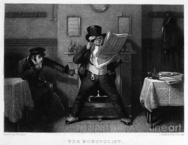 Drawing - The Monopolist, 1840 by Robert William Buss