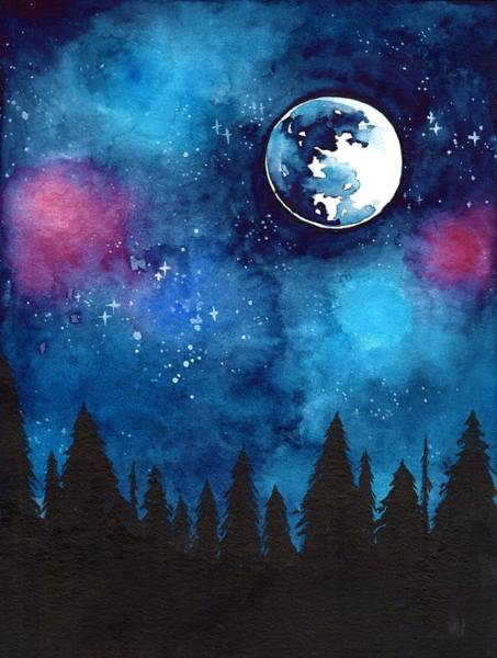 Full Moon Painting - The Moon by ArtMarketJapan