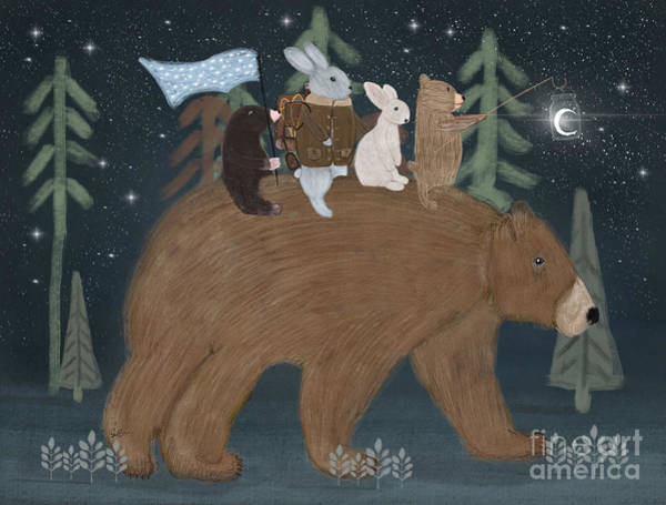 Wall Art - Painting - The Moon Bear by Bri Buckley