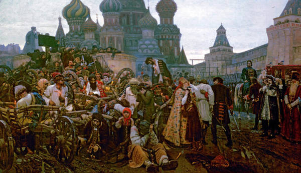 Tretyakov Gallery Painting - The Morning Of The Streltsy Execution by Vasily Surikov