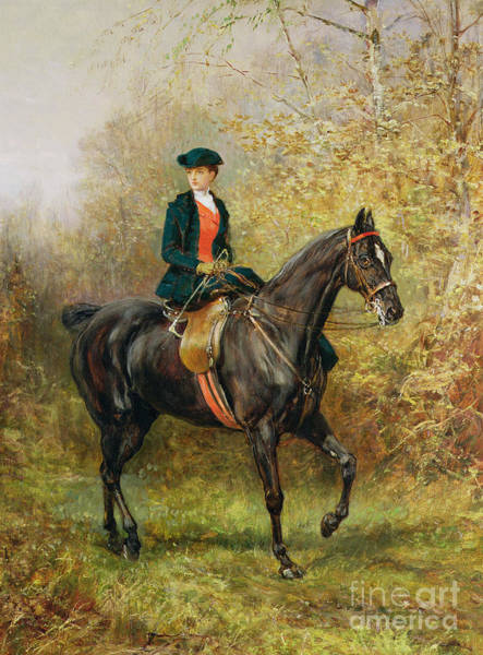 Country Style Painting - The Morning Ride, 1891 by Heywood Hardy