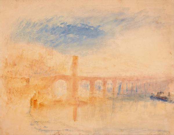 Wall Art - Painting - The Moselle Bridge, Coblenz - Digital Remastered Edition by William Turner