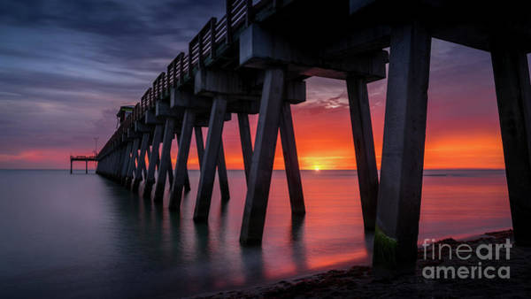 Wall Art - Photograph - The Most Amazing Sunset At The Pier In Venice, Florida by Liesl Walsh