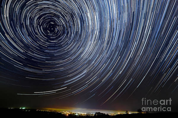 Way Wall Art - Photograph - The Motion Of Stars Around Pole Star In by Alexussk