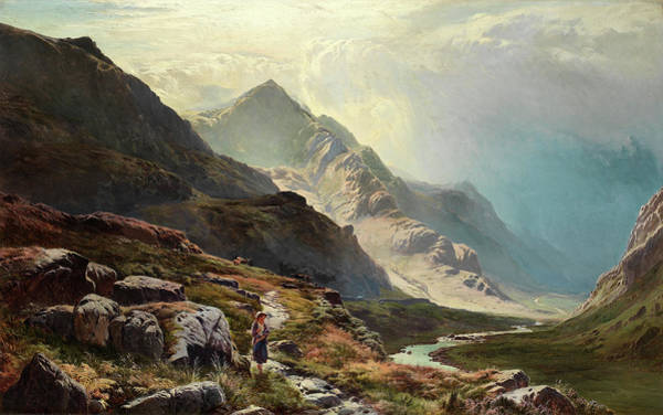 Wall Art - Painting - The Mountain Pass by Sidney Richard Percy