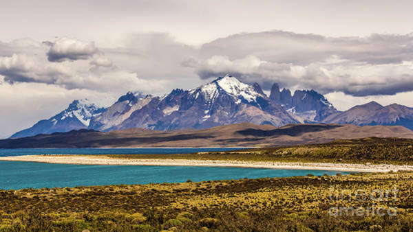 Photograph - The Mountains Of Torres Del Paine National Park, Chile by Lyl Dil Creations