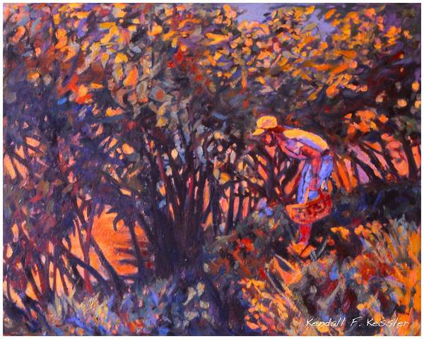 Painting - The Mushroom Picker Stage One by Kendall Kessler