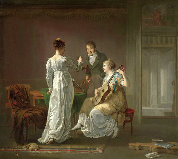 Wall Art - Painting - The Music Lesson, 1808 by Louis Moritz
