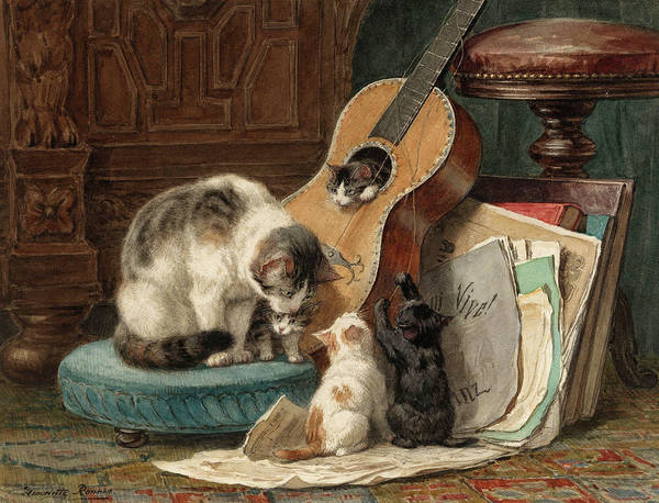Wall Art - Painting - The Musicians by Henriette Ronner-Knip