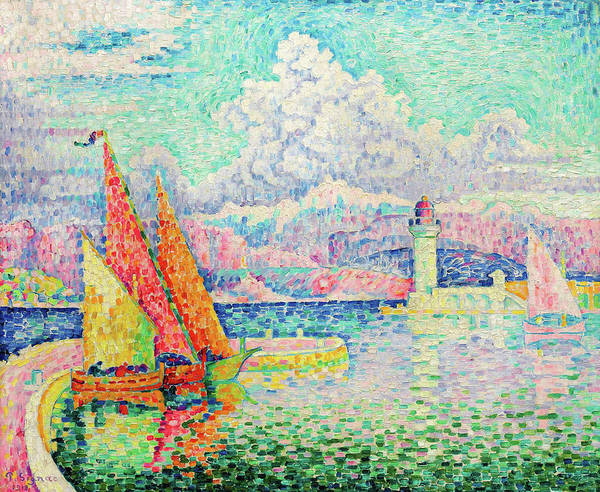 Neo-impressionism Wall Art - Painting - The Musior, Port Of Antibes - Digital Remastered Edition by Paul Signac