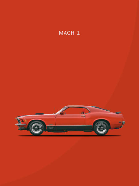 Wall Art - Photograph - The Mustang Mach 1 by Mark Rogan