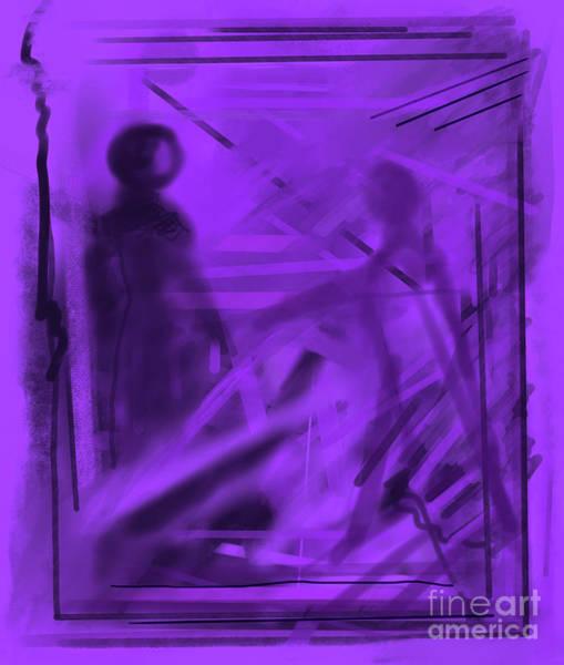 Digital Art - The Mystery Outside My Window by Annette M Stevenson