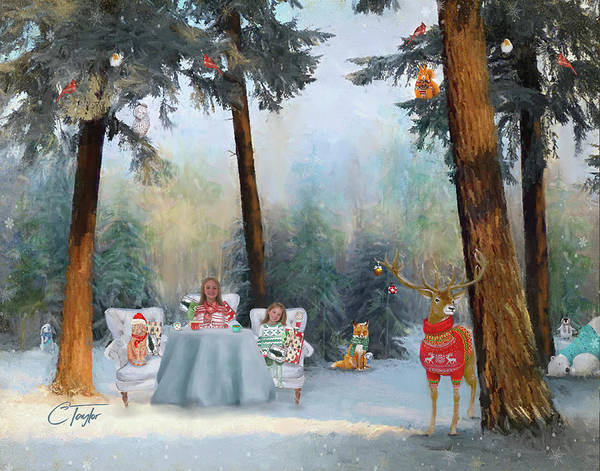 Woodland Animals Mixed Media - The Mystical Magical Wonders Of The Forest by Colleen Taylor