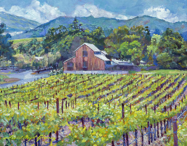 Painting - The Napa Winery Barn by David Lloyd Glover