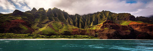 Photograph - The Napali Cathedreal Pano by Ryan Smith