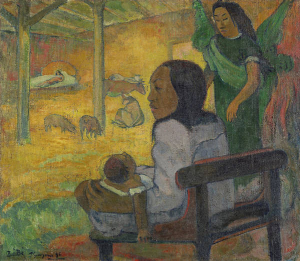 Wall Art - Painting - The Nativity, 1896 by Paul Gauguin