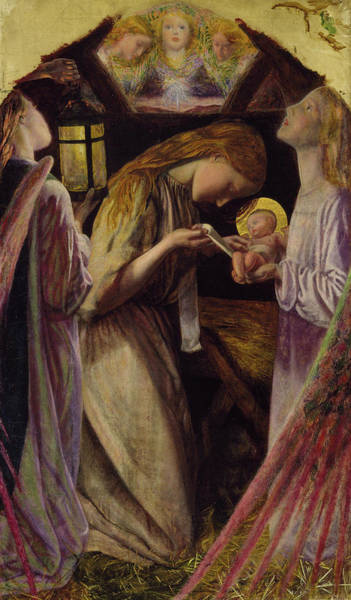 Adolescent Painting - The Nativity by Arthur Hughes
