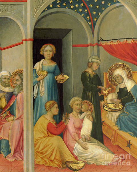 Wall Art - Painting - The Nativity Of The Virgin By  Andrea Di Bartolo by Andrea di Bartolo