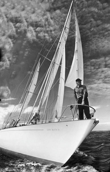 Yacht Photograph - The Navigator Francis Chichester On His by Keystone-france