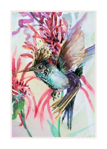 Wall Art - Painting - The Nectar Flight by Mindy Newman