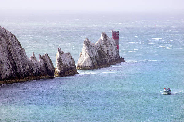 Wall Art - Photograph - The Needles Lighthouse by Martin Newman