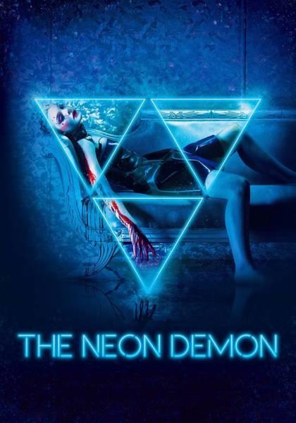 Neon Digital Art - The Neon Demon 2016 by Geek N Rock