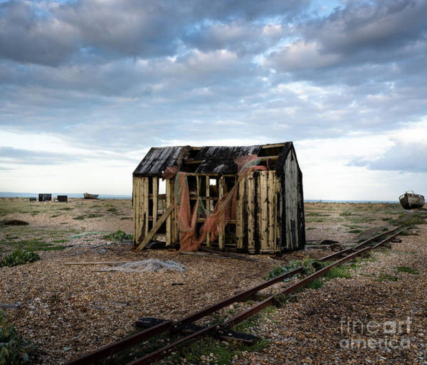 Art Print featuring the photograph The Net Shack, Dungeness Beach by Perry Rodriguez