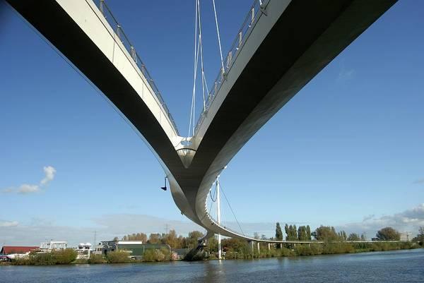 Footbridge Photograph - The Netherlands by Richard Wareham Fotografie