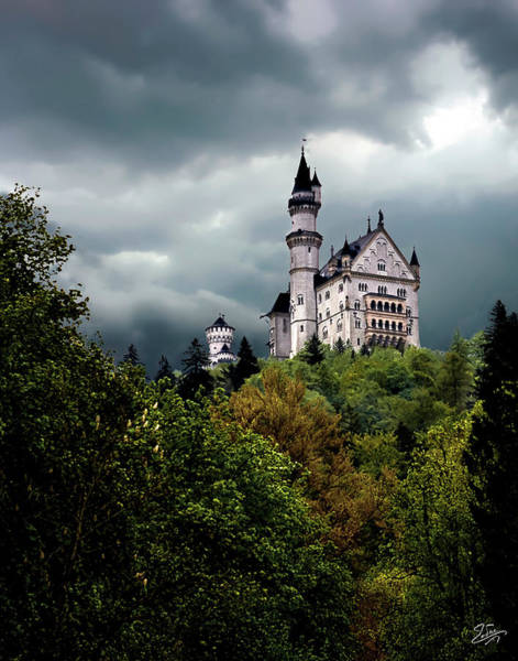 Photograph - The Neuschwanstein Castle  by Endre Balogh