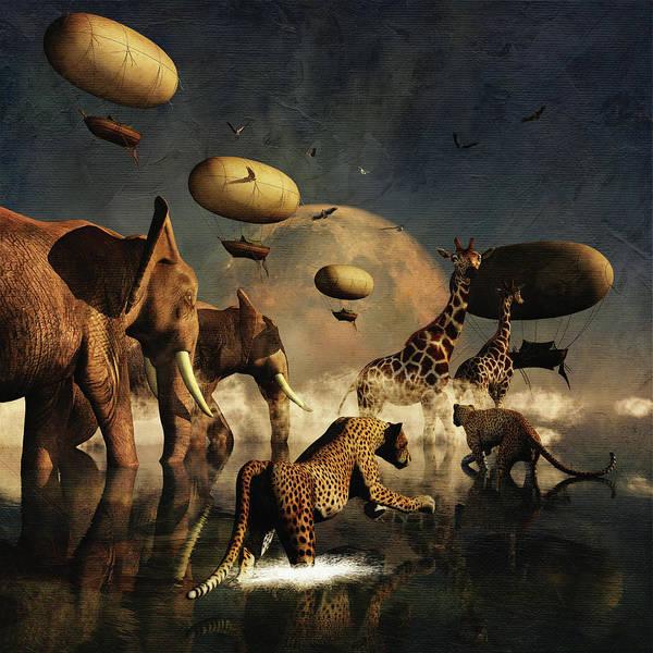 Digital Art - The New Ark by Jan Keteleer