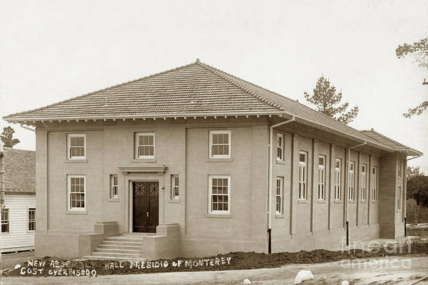 Photograph - The New Assembly Hall And Later Post Theater Building 208 Was Built In 1910 by California Views Archives Mr Pat Hathaway Archives