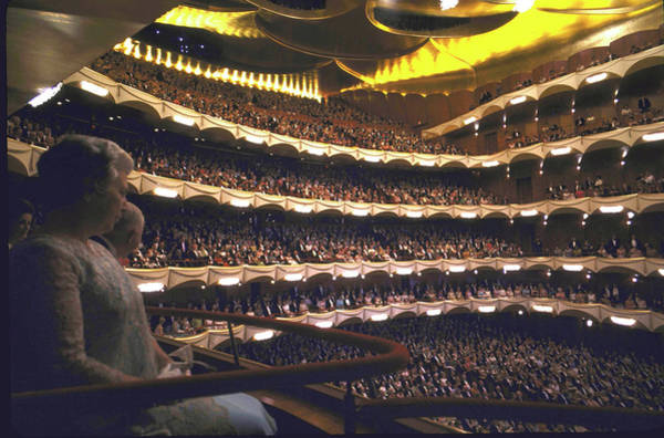 Auditorium Photograph - The New Auditorium Of The Metropolitan O by John Dominis