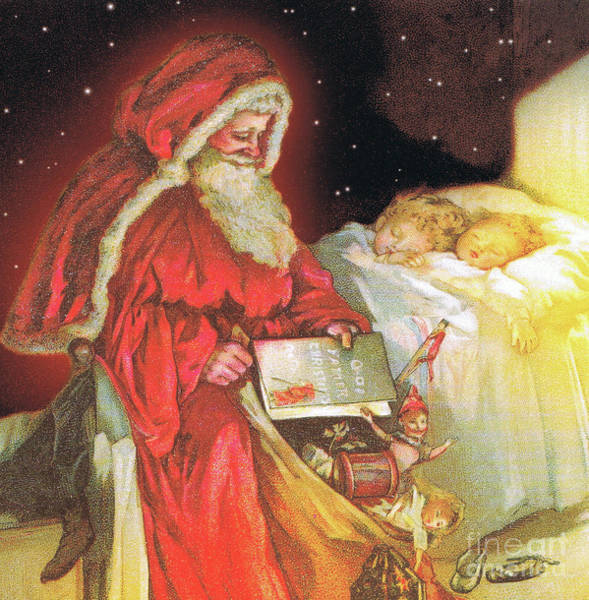 Wall Art - Painting - The Night Before Christmas by Lizzie Mack