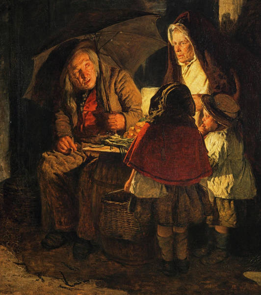 Wall Art - Painting - The Night Stall, 1860 by Alexander Hohenlohe Burr