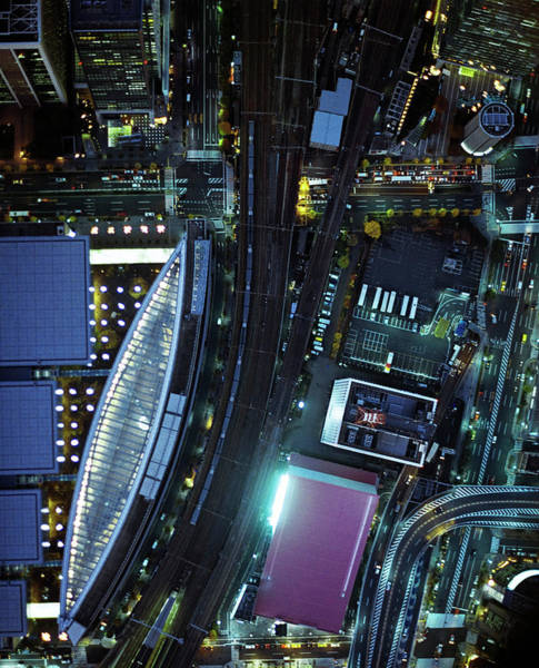 Ginza Wall Art - Photograph - The Night View From Sky In Ginza by Michael H