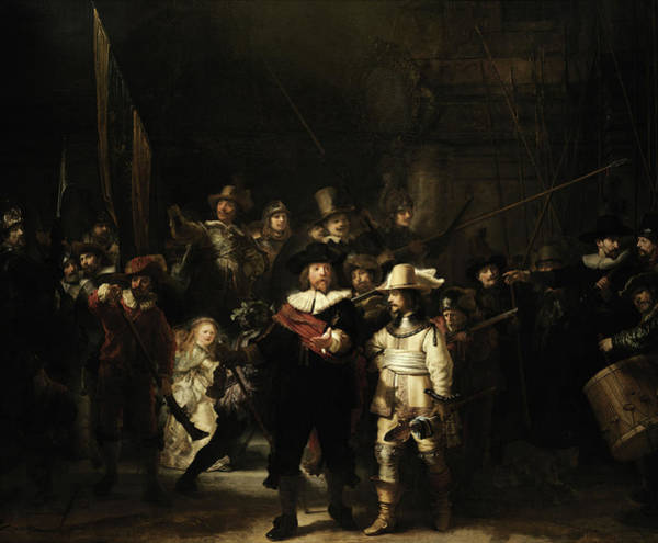 Wall Art - Painting - The Night Watch, 1642 by Rembrandt van rijn