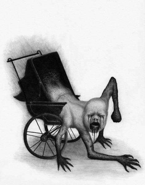 Drawing - The Nightmare Carriage - Artwork  by Ryan Nieves