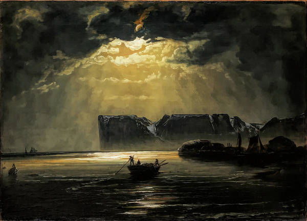 Wall Art - Painting - The North Cape By Moonlight                                                    by Peder Balke