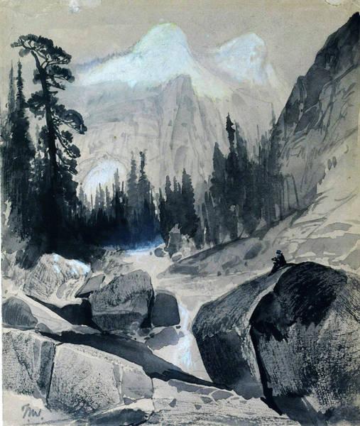 Wall Art - Painting - The North Dome, Yosemite, California - Digital Remastered Edition by Thomas Moran