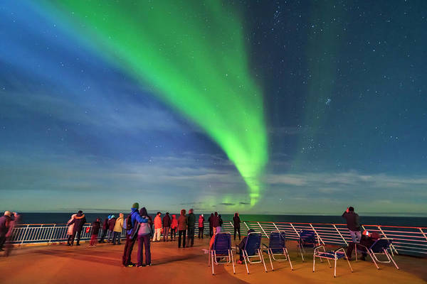 Wall Art - Photograph - The Northern Lights From The Deck by Alan Dyer