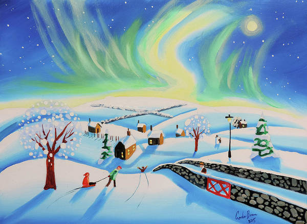 Wall Art - Painting - The Northern Lights by Gordon Bruce