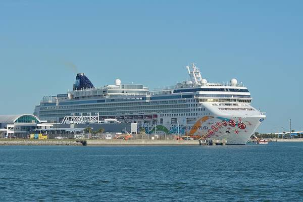 Photograph - The Norwegian Pearl At Port Canaveral  by Bradford Martin