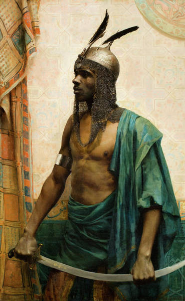 Wall Art - Painting - The Nubian Guard, 1883 by Charles Knighton Warren