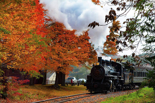 Photograph - The Number 40 Steam Train In Essex Ct by Jeff Folger