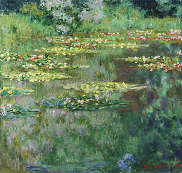 Wall Art - Painting - The Nympheas Basin - Digital Remastered Edition by Claude Monet