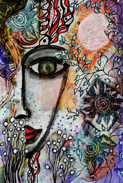 Mixed Media - The Observer by Mimulux patricia No