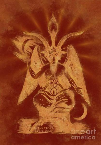 Wall Art - Painting - The Occult World Of Eliphas Levi by Sarah Kirk