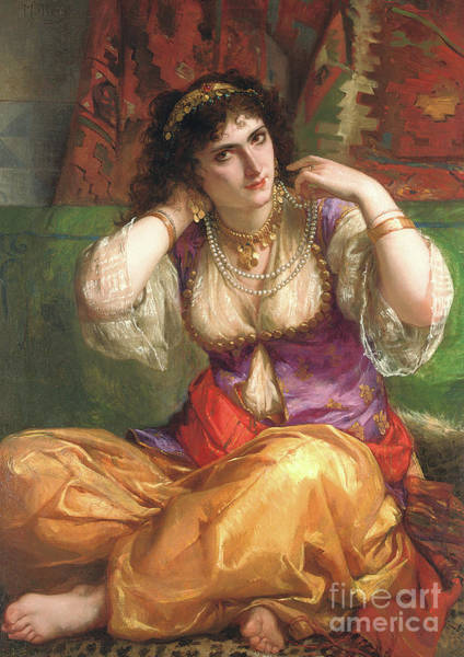 Wall Art - Painting - The Odalisque By Muller by Charles Louis Lucien Muller