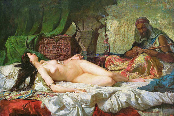 Wall Art - Painting - The Odalisque - Digital Remastered Edition by Mariano Fortuny