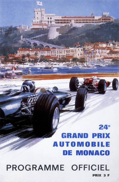 Monaco Photograph - The Official Programme For The 24th by Heritage Images